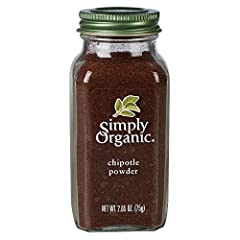 QUALITY CHIPOTLE - Simply Organic Chipotle Powder (Capsicum annuum) comes from the Nahuatl word 'chilpoctli' which means 'smoked chili.' This spice is obtained from dried and smoked jalapeno peppers. It has been used since the time of the Aztecs. USE...