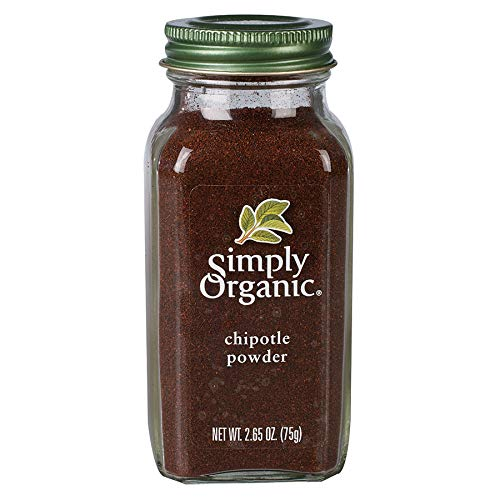 Simply Organic Chipotle Powder, Certified Organic, Vegan | 2.65 oz | Capsicum annuum
