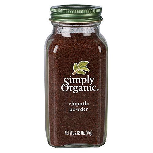 Simply Organic Chipotle Powder, Certified Organic, Vegan | 2.65 oz | Capsicum annuum