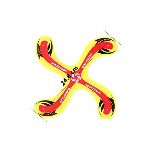 Kisshes Boomerang Bumerang Fan Rund Outdoor Sport Spielzeug für Kinder ab 5 Jahre Alt und Damen Herren