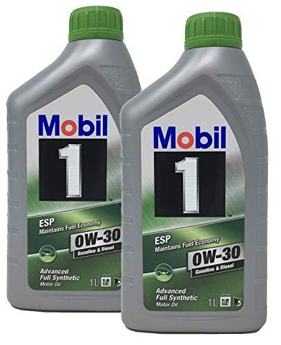 Mobil 1 100% Synthetisches Motoröl ESP 0W-30, Packung mit 2 Litern