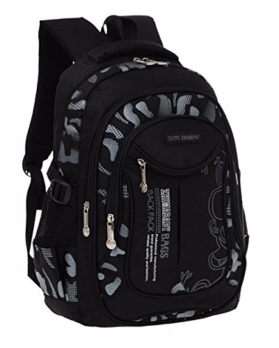 Fanci Flora Camo Prints Waterproof Elementary Middle High School Backpack Bookbag for Teenage Boys Travel Rucksack Daypack