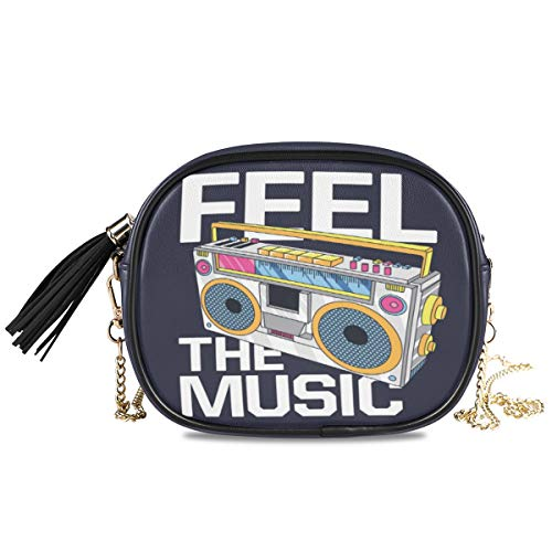 Feel The Music Women's Crossbody Boombox Bag