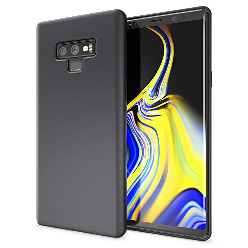 NALIA Neon Custodia compatibile con Samsung Galaxy Note 9, Ultra-Slim Cover Protezione Case Protettiva Morbido in Silicone Gel, Gomma Telefono Cellulare Smartphone Bumper Sottile, Colore:Nero