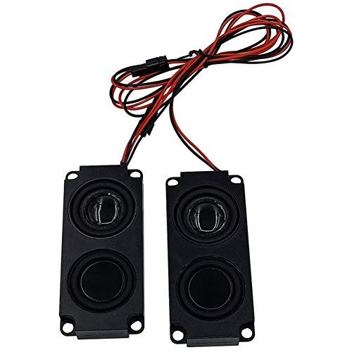 Viudecce Altavoces PortáTiles de Audio de 2 Piezas Altavoz de Graves de Doble Diafragma 8 Ohmios una Prueba de Agua para Espejo de Luz LED
