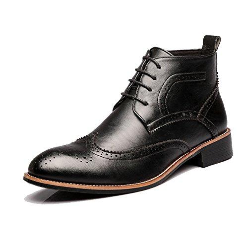Ruanyi Zapatos Brogue para Hombre con Cordones, Botines Superiores con Cordones y...