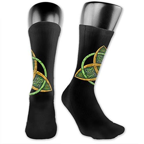 Crew Socks For Men Colorful Celtic Trinity Knot Cute Athletic Dress Socks Women Running