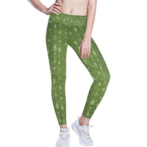 DEZIRO hoge taille yoga broek kerstboom licht groen papier achtergrond yoga broek met tummy controle, 4 manieren stretchtraining hardlopen yoga legging