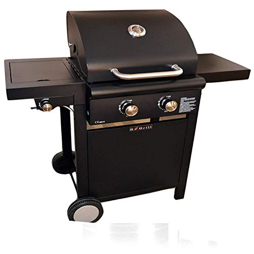 ke grill BARBECUE A GAS 2 FUOCHI CON FORNELLO 108X53X108CM ARREDO GIARDINO BBQ DA ESTERNO ART.KE001
