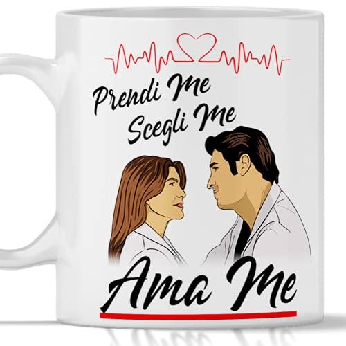 Taza Derek Meredith Greys Anatomy PRENDI ME SCEGLI ME AMA ME. Gadget mug grey's anatomy tributo a Dereck
