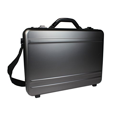 World Traveler European-Style Gun Metal Aluminum Laptop Attache Case, Silver, One Size