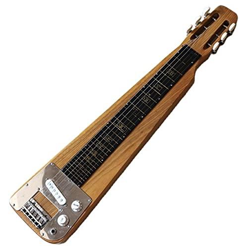 KEPOHK 30 pulgadas Mini guitarra eléctrica de 6 cuerdas de color natural 30 pulgadas