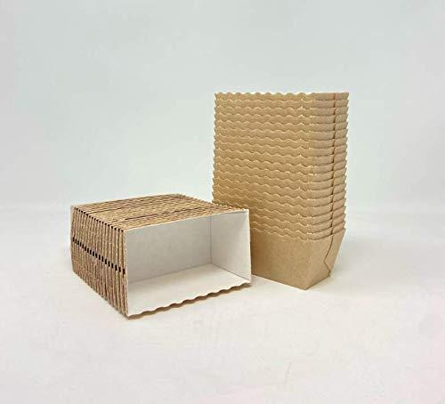 Bakery Direct Einweg-Mini-Kastenformen / Kuchenformen, 100 Stück, Farbe: Vanille
