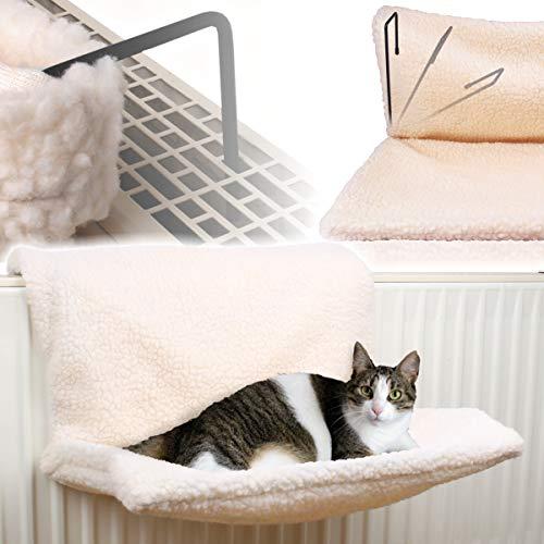 Stimo Katzenhängematte für die Heizung (passend für alle gängigen Heizkörper) / Katzen Liege/Bett/Kuschelsack