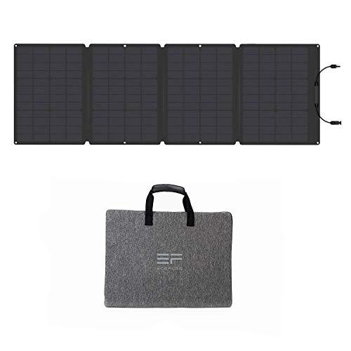 EF ECOFLOW ソーラーチャージャー 110W ソーラーパネル 単結晶 高変換効率 IP67防水防塵 折りたたみ式 薄型 ソーラー充電器 防災 12ヶ月保証