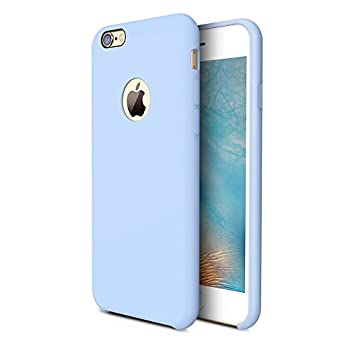 TORRAS [Love Series iPhone 6S Case/iPhone 6 Case Liquid Silicone Rubber Shockproof Case with Soft Microfiber Cloth Cushion Compatible with iPhone 6 / 6S Light Blue