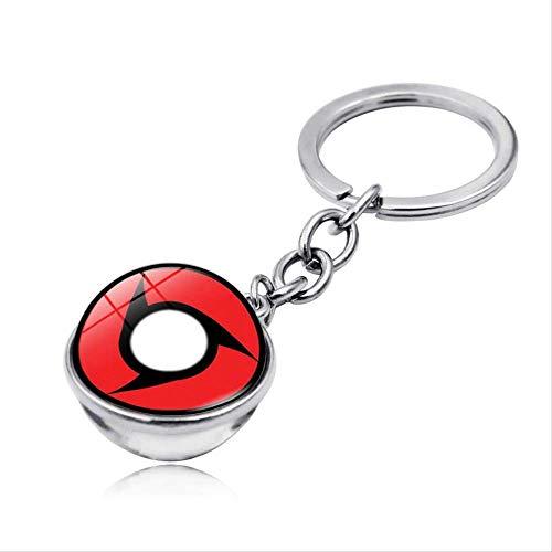 NOBRAND Rinnegan Eyes Naruto Glass Ball Keychain Uchiha Clan Sharingan Eye Anime Naruto Car Key Chain Ring Itachi Sasuke Kakashi Cosplay