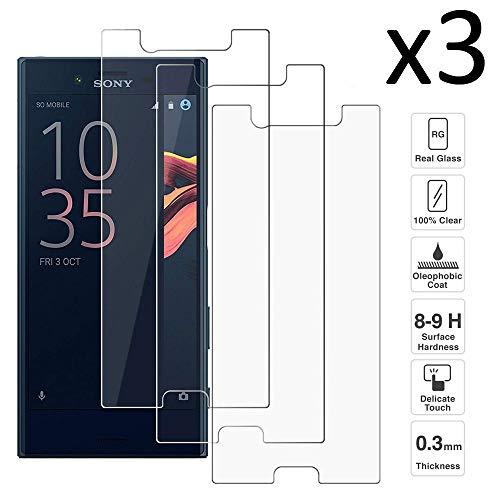 iGlobalmarket [3 Unidades Protector de Pantalla Sony Xperia X Compact, Vidrio Templado, sin Burbujas, Alta Definicion, 9H Dureza, Resistente a Arañazos