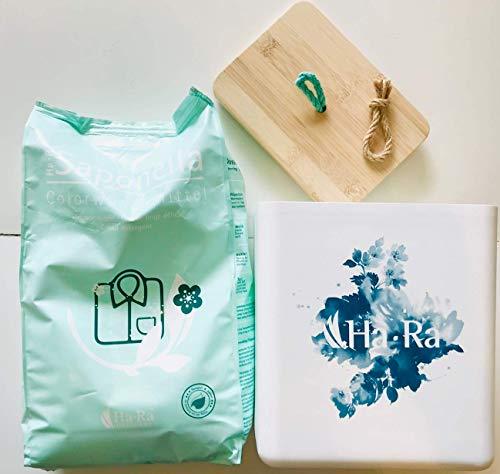 Ha-Ra SET Saponella Colorwaschmittel 3 kg + Waschmittel-Box 20 x 22 x17 cm