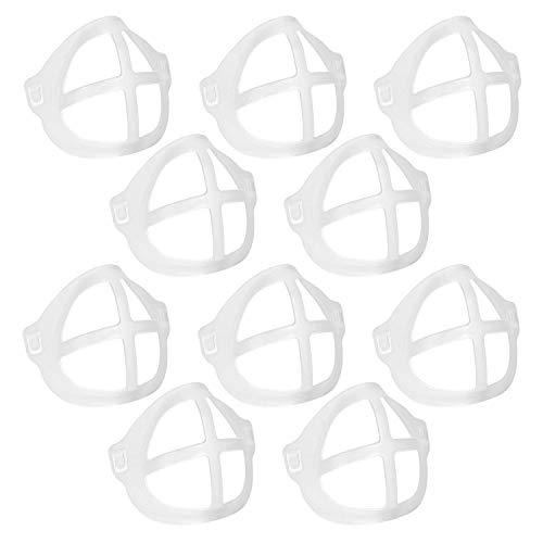 Beuya 10 Pcs Marco de Soporte de máscara, 3D Soporte de máscara, Soporte de Silicona para mascarillas, 3D Bracket for Face Masks