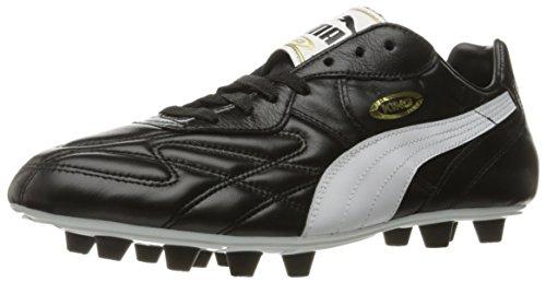PUMA Men's King Top DI FG Soccer-Shoes, Black-White-Team...