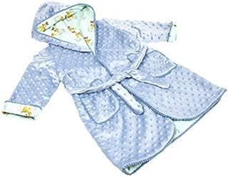 Bata de casa en Minky y Batista para Bebé Niño y Niña (12 a 24 Meses) Modelo Caramelo - Hecho a Mano - Excellent