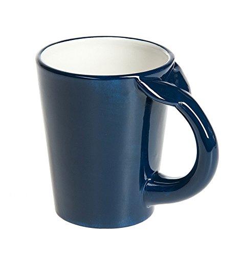 G! For Gifts Deep Blue Whale Tale Handle Novelty Coffee Mug - 14 Ounce