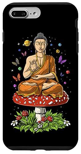 iPhone 7 Plus/8 Plus Mushroom Buddha Zen Yoga Meditation Psychedelic Hippie Fungi Case