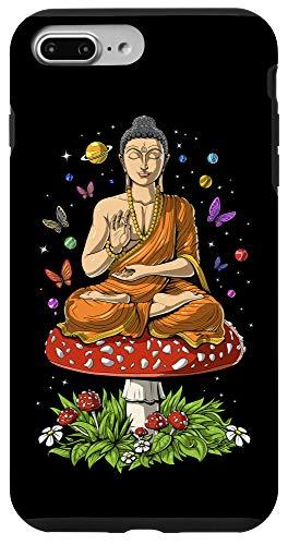 iPhone 7 Plus/8 Plus Magic Mushroom Buddha Fungus Zen Yoga Meditation Hippie Case
