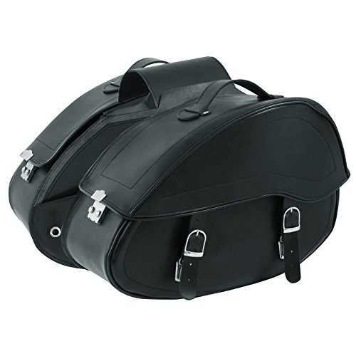 A-pro Saddle Bags Motorcycle Bikers Luggage Cruiser Heavy Duty 50x33x20cm