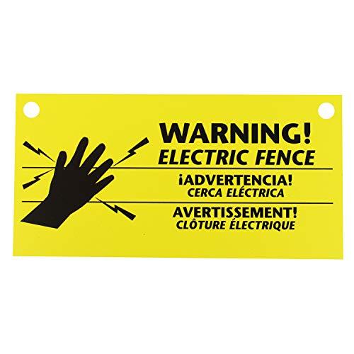 ZAREBA 680828 WS3 - Señales de Advertencia para Valla eléctrica, 3 Unidades