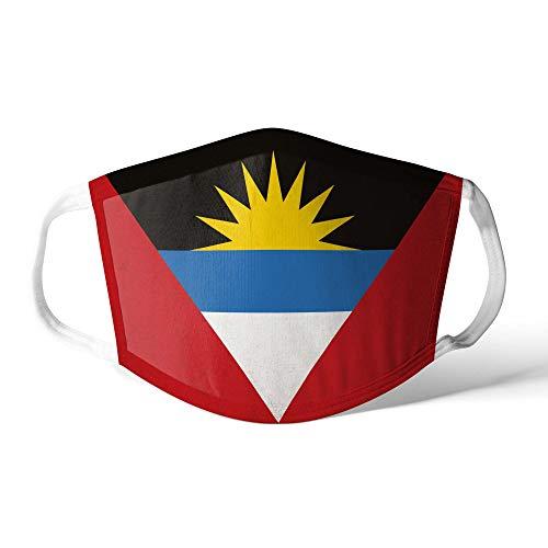 M&schutz Maske Stoffmaske X Groß Amerika Flagge Antigua und Barbuda Wiederverwendbar Waschbar Weiches Baumwollgefühl Polyester Fabrik
