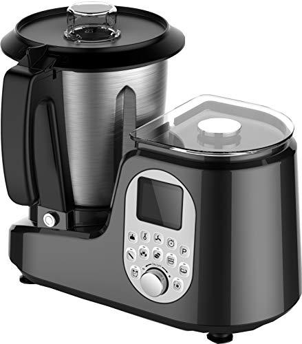 Sirge Robot da Cucina Multifunzione con 20 Programmi Automatici + Bilancia 5 Kg + 12 Velocità + Temperatura fino a 120°C