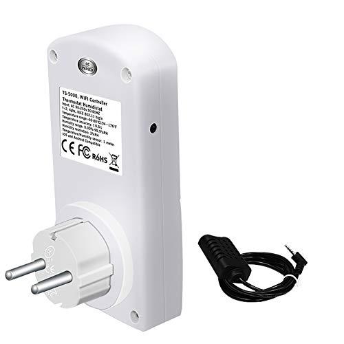 SJTJA TS-5000 WiFi aplicación Inteligente de sincronización Interruptor de la Toma de Temperatura Remoto Control de Humedad del termostato del módulo de Temporizador Inteligente zócalo