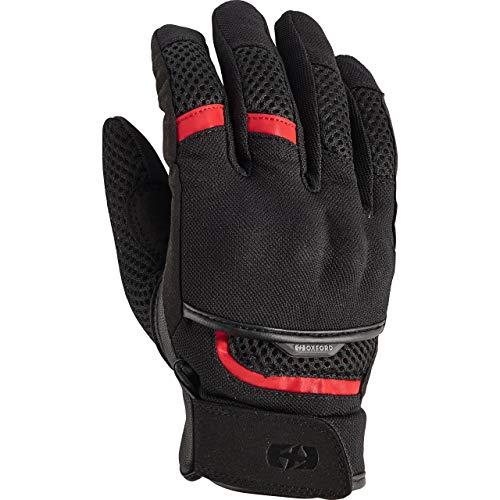 Oxford Motorradhandschuhe kurz Motorrad Handschuh Brisbane Air Sommer Handschuh schwarz/rot M, Herren, Enduro/Reiseenduro, Polyester