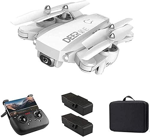 5G WiFi FPV GPS Drone Drone 4K UHD Cámara y 1500 Metros Vuelo RC Quadcoptere 20 + 20 Minutos Largo Tiempo de Vuelo Nivel 7 Viento Resk Auto Return Home Black-Blanco Improve