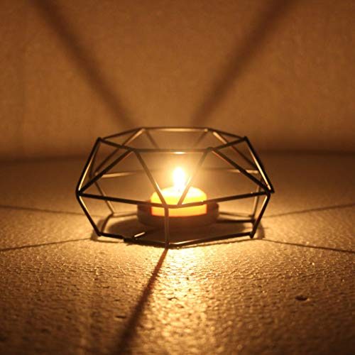 Home Decorations for Living Room, Nordic Retro Iron Tea Light Candle Holder Candlestick Lamp Lantern Home Decor S
