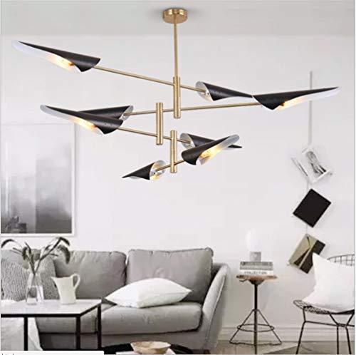 OUPPENG Lámpara De Araña LED Forma De Avión Pico De Pato Creativo Dormitorio Lámparas Nórdicas (Size : White 4head)