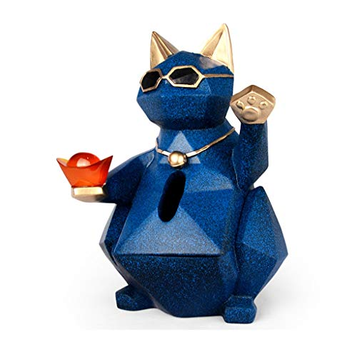Lrxq Creatieve Europese stijl tissuedoos cat modelleer woonkamer salontafel tissuedoos leuke eenvoudige home dining tissue box