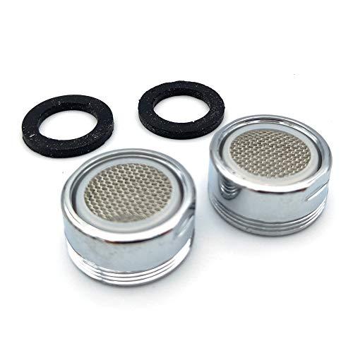 JuliDon Juego de 2 piezas de grifo (Perlator) Filtro de grifo grifo grifo de ducha, colador, aireador, boquilla mezcladora con filtro ABS
