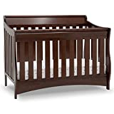 Delta Children Bentley S Series Deluxe 6-in-1 Convertible Crib, Black Cherry Espresso