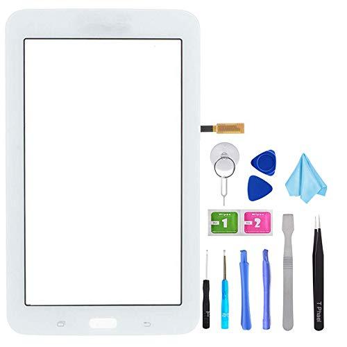 Tefir Touchscreen-Digitizer Ersatz für Samsung Galaxy Tab 3 Lite SM-T113 T113 17,8 cm (7,0 Zoll) (LCD-Display Nicht im Lieferumfang enthalten) mit Werkzeug und vorinstalliertem Kleber