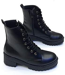 Women's Lace Up Boots-Black 37