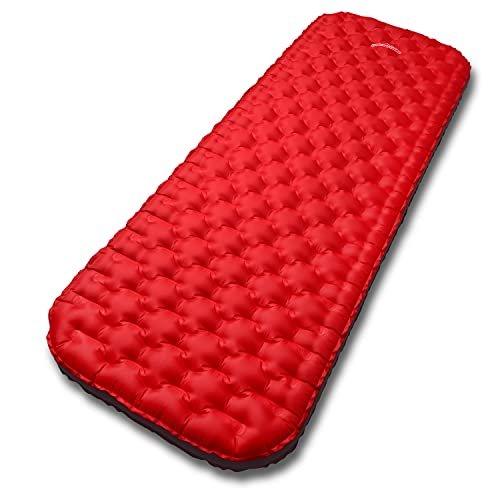 Outdoorsman Lab Premium Sleeping Pad for Camping - Best Compact Inflatable Air Mattress for Adults & Kids - Lightweight Hiking, Backpacking, Outdoor & Travel Gear