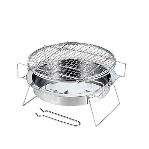 Charcoal Grill Barbecue Portable BBQ - Stainless Steel Folding BBQ Grill Camping Grill Tabletop Grill Hibachi Grill for Shish Kabob Portable Camping Cooking Small Grill