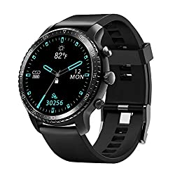 Image of Tinwoo Smart Watch for Android / iOS Phones, Support Wireless Charging, Bluetooth Health Tracker with Heart Rate Monitor, Digital Smartwatch for Women Men, 5ATM Waterproof (TPU Band Black): Bestviewsreviews