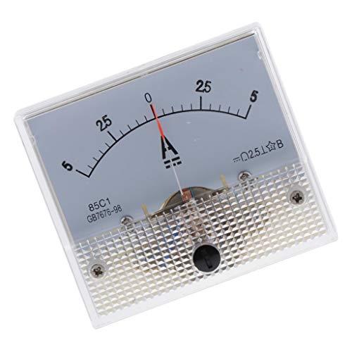 LOVIVER DC Kunststoff Analog Zeiger Amperemeter Ampere Meter Amp Panel 1A 5A 10AMechanischer Strommesser - 0-5A