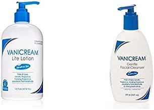Vanicream Lite Lotion 16 oz & Vanicream Gentle Facial Cleanser for sensitive skin 8 oz