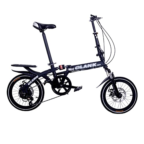 XBSXP Mini Bicicleta Plegable de Engranajes de Velocidad Variable, Bicicleta Plegable Ligera portátil para Estudiantes, Hombres, Mujeres, Bicicleta con Amortiguador