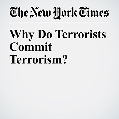 Why Do Terrorists Commit Terrorism? audiobook cover art